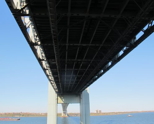 Under the Verrazano -Narrows Bridge