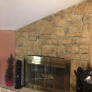 145 Darnell woodburning fireplace in family room