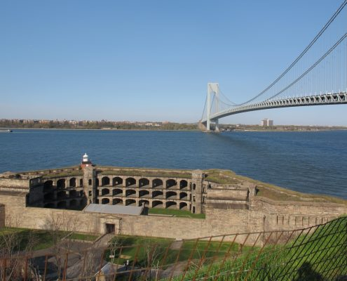 Beautiful view of the Fort and the bridge in Fort Wadsworth