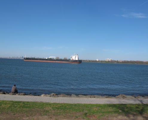Rosebank view of tanker from Alice Austen House