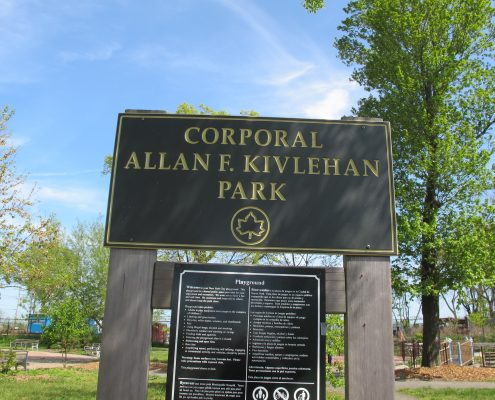 New Dorp Corporal Allen Kivlehan park sign