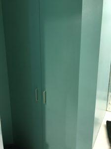 Double door closet in bathroom 10 Bay St Landing 4i