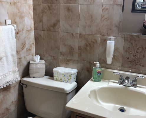 566 Travis half bath 2nd level