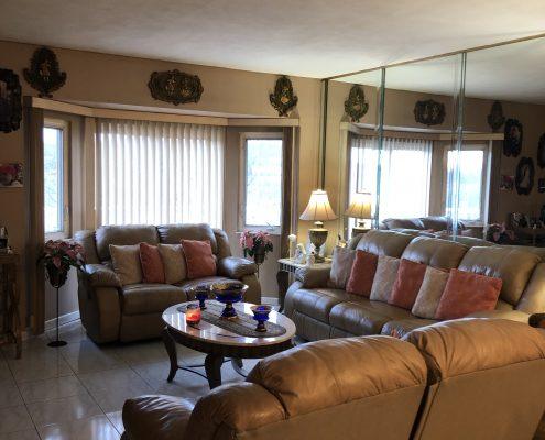 566 Travis living room sunken