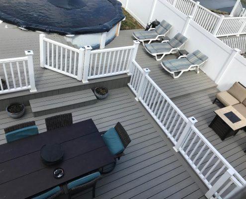 67 Ladd pool deck in yard