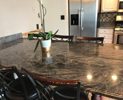 granite counter on the Island 67 Ladd