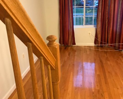 63 Peacock hardwood floors in master bedroom