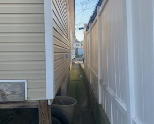 114 Baden side of house PVC fence