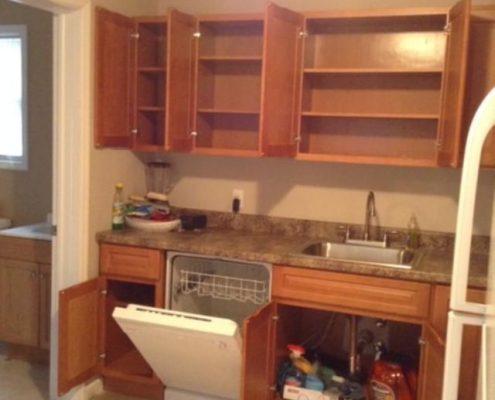 114 Baden kitchen doors open