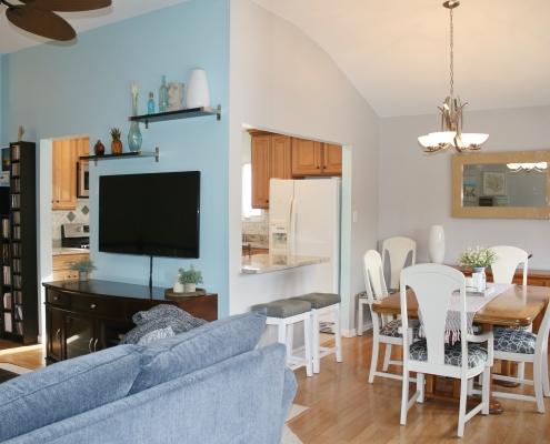beautiful open concept shot 52 Graham living dining room kit